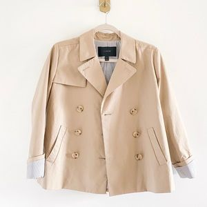 J.Crew Japanese Khaki Swing Crop Trench Coat